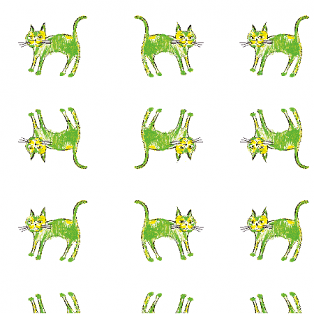 21997 | Green cat 2 pattern for kids