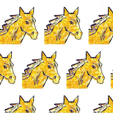 Fabric 21999 | Horse head 2