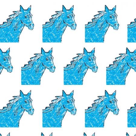 22001 | Blue horse head 2