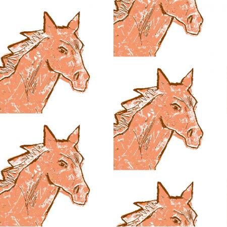 Tkanina 22002 | Horse head 3