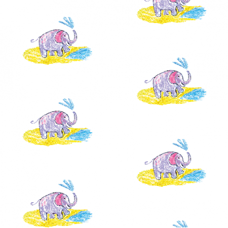 Tkanina 22006 | Funny elephant 1 pattern for kids