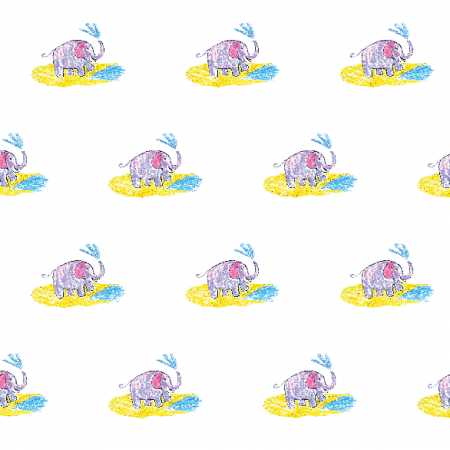 Tkanina 22009 | Funny elephant 1A pattern for kids