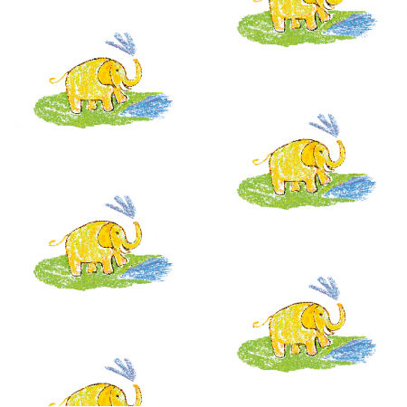 Tkanina 22012 | Funny elephant 3 pattern for kids