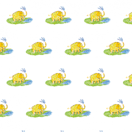 Tkanina 22013 | Funny elephant 3A pattern for kids