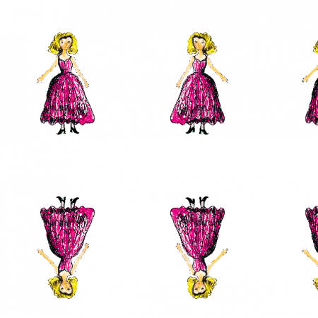 Tkanina 22043 | Princess 2A pattern for kids