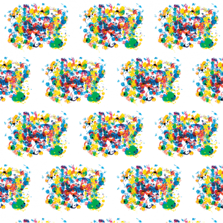 Tkanina 22063 | Colourful abstract pattern 19A