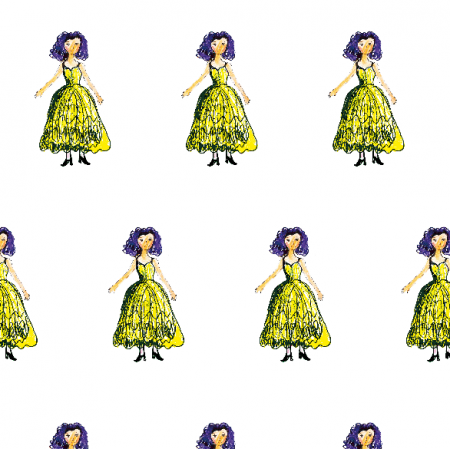 Tkanina 22068 | Princess 4A pattern for kids