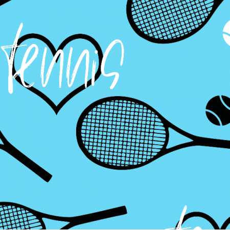 Tkanina 22133 | tennis blue xl