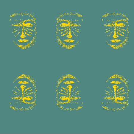 Tkanina 22148 | Yellow  mask 1A