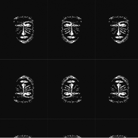 22150 | Black white mask pattern 1A