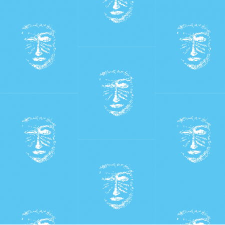 22153 | Blue white mask pattern 1