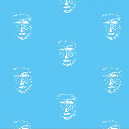 Fabric 22153 | Blue white mask pattern 1