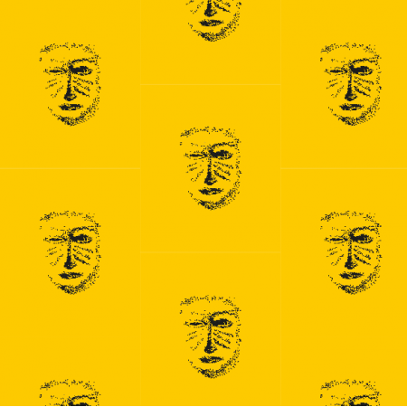 Tkanina 22159 | Yellow black mask pattern 1