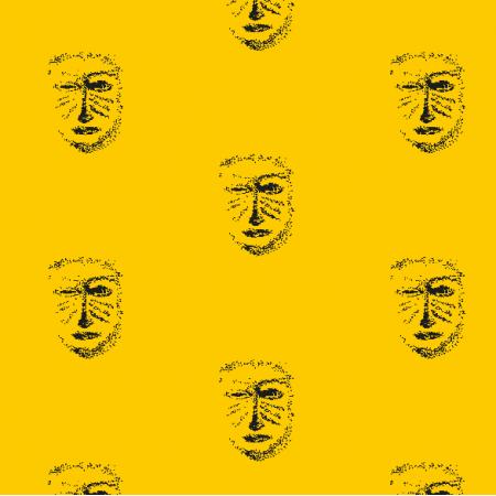 Fabric 22159 | Yellow black mask pattern 1