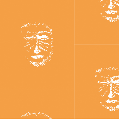 22161 | Orange white mask pattern 1