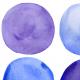 Fabric 22164 | Niebieskie koła akwarelowe