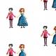 Tkanina 22207   prince and princess 2 colourful pattern for kids
