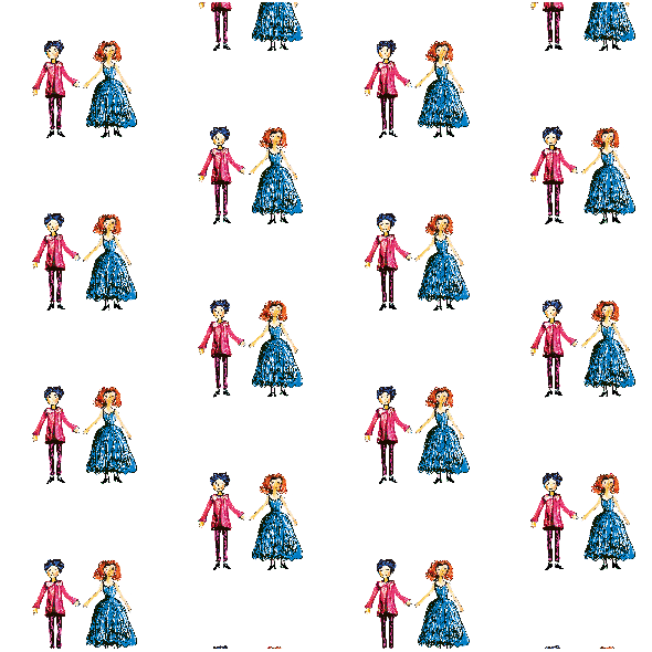Fabric 22207 | prince and princess 2 colourful pattern for kids