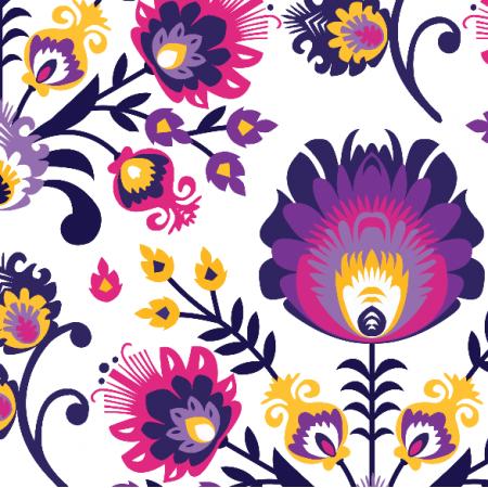 Fabric 22210 | folk fiolet xl