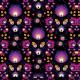 Tkanina 22215 | folk fiolet - black small