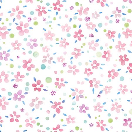 Tkanina 22255 | small Watercolor flowers