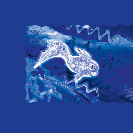 Fabric 22276 | Silver fish pattern 1