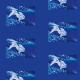 Tkanina 22276 | Silver fish pattern 1