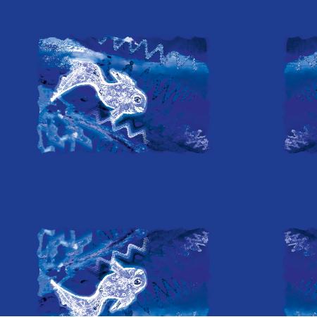 Fabric 22277 | Silver fish pattern 1A