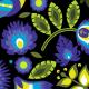 Fabric 22358   Blue green folk (black) XL