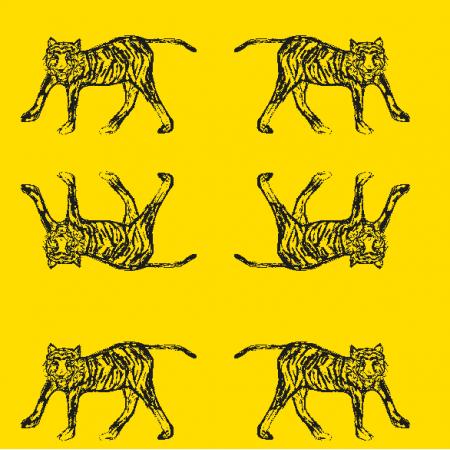Fabric 22374 | Tiger yellow black pattern
