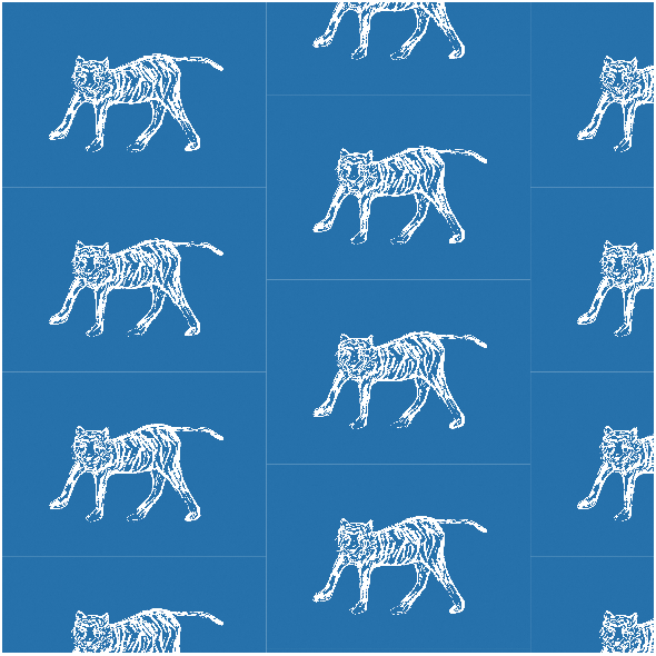 Fabric 22380 | tiger white and navy blue pattern 2