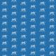 Tkanina 22380   tiger white and navy blue pattern 2