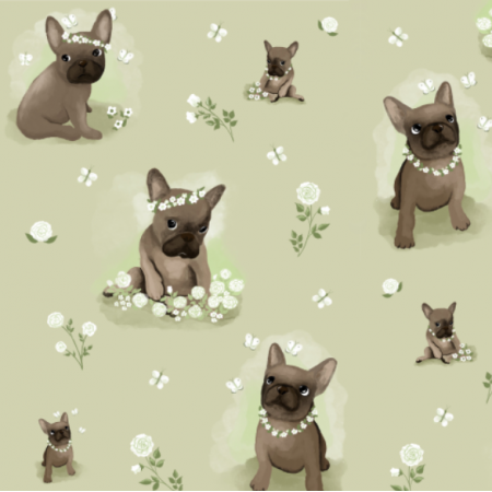 Fabric 22409 | Frenchie 1 greeN