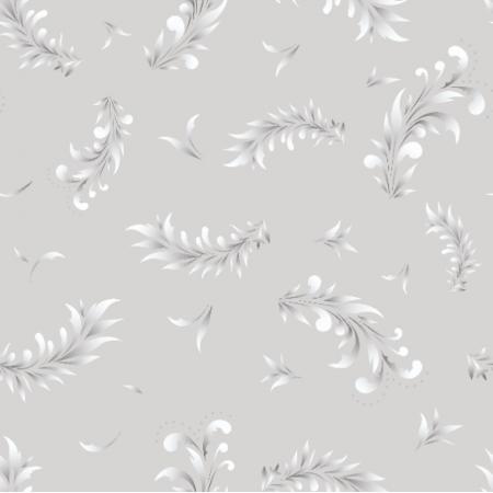 Fabric 22446 | liście szary biały0