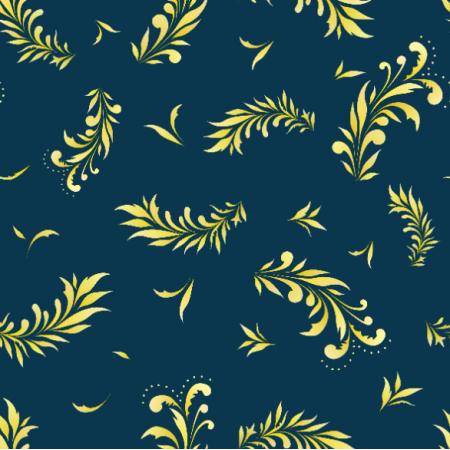 22448   Liście niebieski żółty