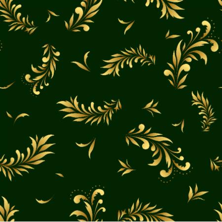 Fabric 22449 | Liście zielony żółty