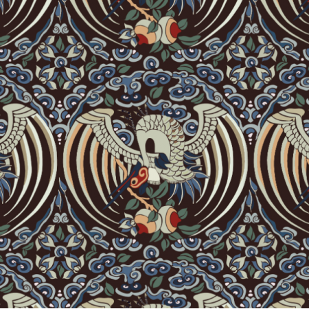 Fabric 22460 | Chinese birds