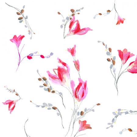 22471 | Delikatny pastelowy wzór kwiatowy