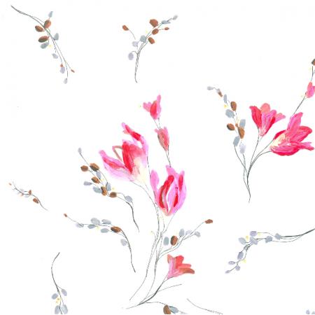 22472 | Subtelny pastelowy wzór kwiatowy