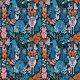 Fabric 22550 | Canada. Canadian wildlife animals. moose, bear, fox, bunny, deer