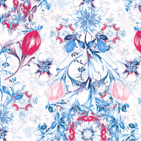 Fabric 22558 | Kompozycja z kwiatami seria 8