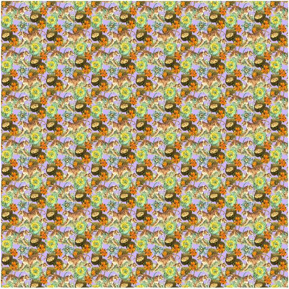 Fabric 22561   TYGRYSY W EGZOTYCZNEJ DŻUNGLII