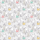 Fabric 22702 | cute doodle cats