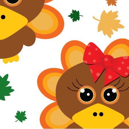 Fabric 22707 | Cute baby turkey xl