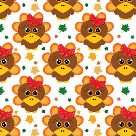 Fabric 22708 | Cute baby turkey Small
