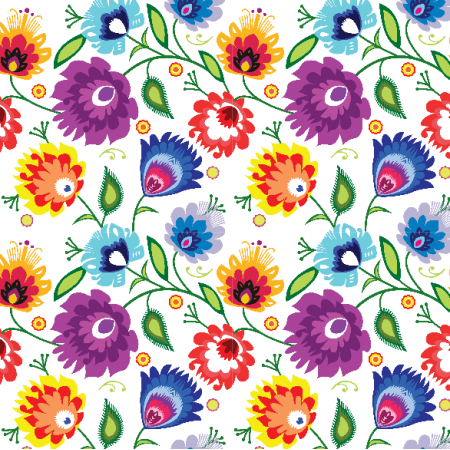 Fabric 22743 | Lowickie na white Small