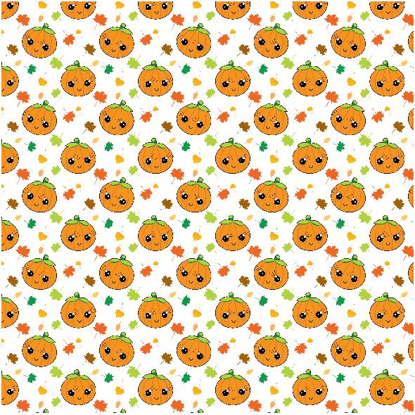 Tkanina 22749 | Jesienny wzor z dyniami xl