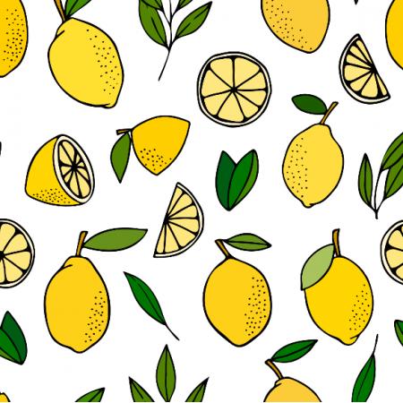 Tkanina 22776 | Fresh summer lemons