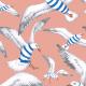 Tkanina 22803   Seagulls coral pink111