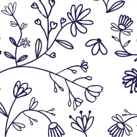 Tkanina 22819 | small petals white